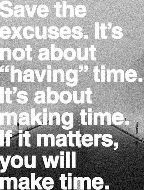 t2coaching: What are your excuses not to workout?